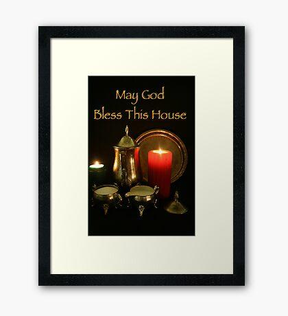 God Bless This House Framed Print