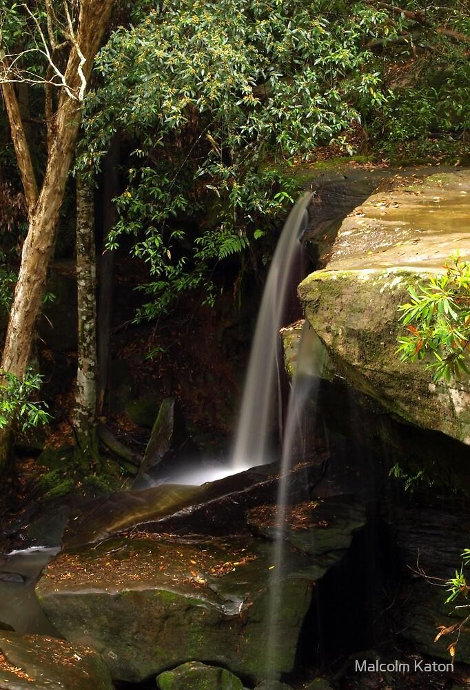 Miniature Falls - Somersby Falls, NSW by Malcolm Katon