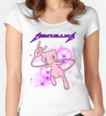 Mewtallica - Rock Pokemon Women's Fitted Scoop T-Shirt