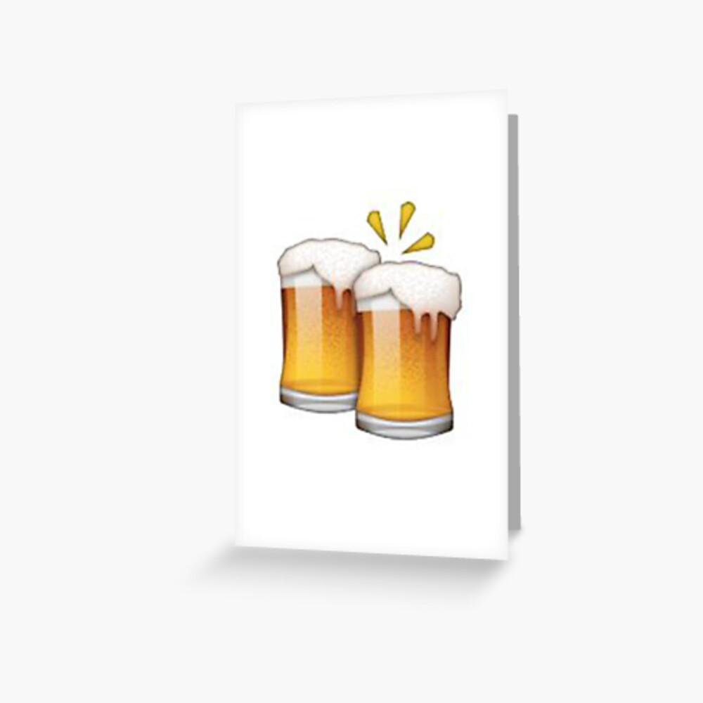 Bier Emoji Grußkarte