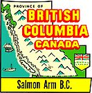 Salmon Arm BC Vintage Travel Decal by hilda74
