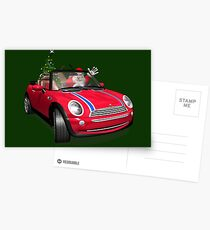 Santa Claus In Mini Postcards