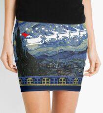 Minifalda Suéter feo de la Navidad de la noche estrellada de Van Gogh