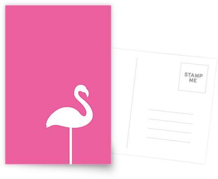 Kunst-Motiv: Pinker Flamingo von gluecklichst