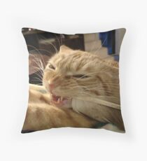 """Neuro Dan - Feather Dan """"I declare it FEATHERS time!"""" Throw Pillow"""