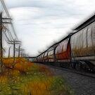 Fractal Train by Teresa Zieba