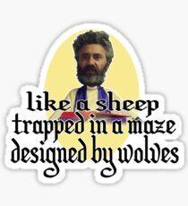 Wilderpeople Sheep Maze ver.2 Sticker