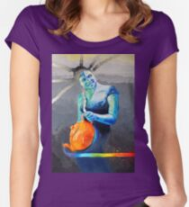 Heal with Rainbow Tea (self portrait) Women's Fitted Scoop T-Shirt
