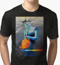 Heal with Rainbow Tea (self portrait) Tri-blend T-Shirt