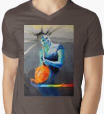 Heal with Rainbow Tea (self portrait) Men's V-Neck T-Shirt