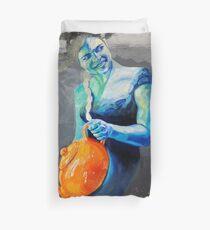 Heal with Rainbow Tea (self portrait) Duvet Cover