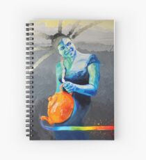 Heal with Rainbow Tea (self portrait) Spiral Notebook