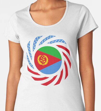 Eritrean American Multinational Patriot Flag Series Premium Scoop T-Shirt