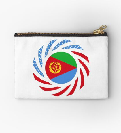 Eritrean American Multinational Patriot Flag Series Zipper Pouch