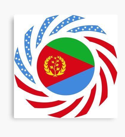 Eritrean American Multinational Patriot Flag Series Canvas Print