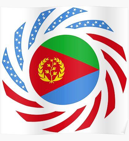 Eritrean American Multinational Patriot Flag Series Poster