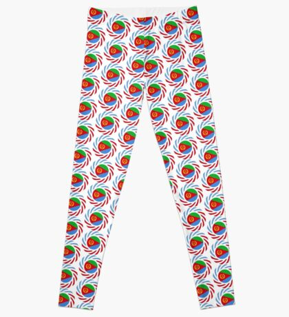 Eritrean American Multinational Patriot Flag Series Leggings