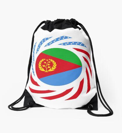Eritrean American Multinational Patriot Flag Series Drawstring Bag