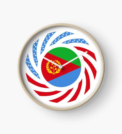 Eritrean American Multinational Patriot Flag Series Clock