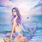 Blaue Meerjungfrau der Fantasie von Alena Lazareva