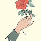 Rose gift by freshinkstain
