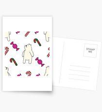 Teddie cute on white Postcards