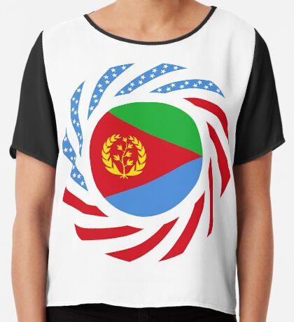 Eritrean American Multinational Patriot Flag Series Chiffon Top