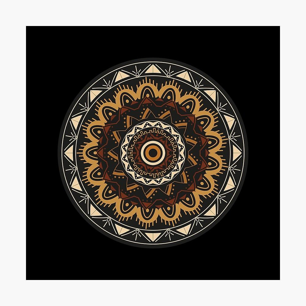 Mandala nights Lámina fotográfica