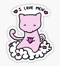 I Love Mew Sticker