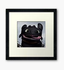 cute toothless Framed Print