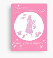 Once Upon a Dream (Make it Pink!) Canvas Print