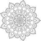 Mandala Lace Dove by Kristin Omdahl