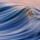 Blue Abstract Wave by David Orias
