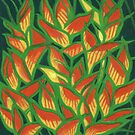 Heliconia Rostrata, Tropical Flowers, Abstract Florals by clipsocallipso
