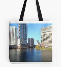 Chicago River Scene Tote Bag