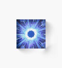 Blue Agate Acrylic Block