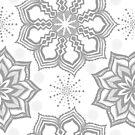 Dots Mandala Lace Dove by Kristin Omdahl