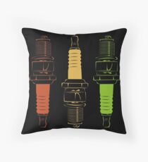 Spark Plugs Traffic Light Colours Throw Pillow