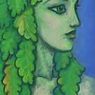 Balanis, Dryad, Imaginary Portrait, Forest Fantasy  by clipsocallipso