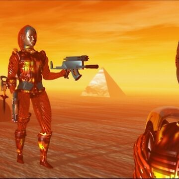 CYBORG ARES IN THE DESERT OF HYPERION Sci Fi Movie by BulganLumini