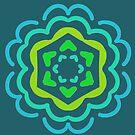 Lucky Sixes Mandala by Betty Mackey