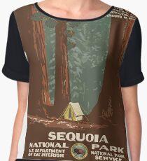 Sequoia National Park Vintage Chiffon Top