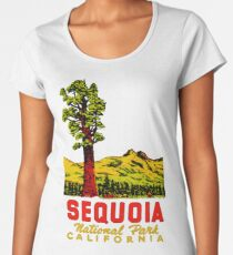 Sequoia National Park California Vintage Travel Decal Women's Premium T-Shirt