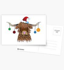 Christmas Cow Postcards