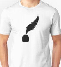 Feather ink writer Unisex T-Shirt