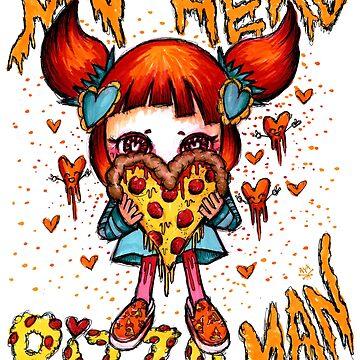 Kawaii Pizza Girl My Hero Pizza Man by AyaMasuda
