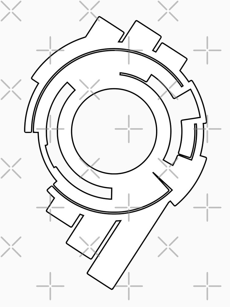 Fantasma en el caparazón: logotipo de la sección de seguridad pública 9 (logotipo blanco) de Fireseed-Josh