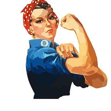 Rosie the Riveter #Resist  by friendlyspoon
