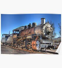 Old Steam Train Poster