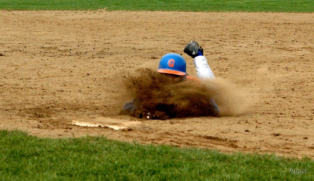 Sliding into third! by Appel